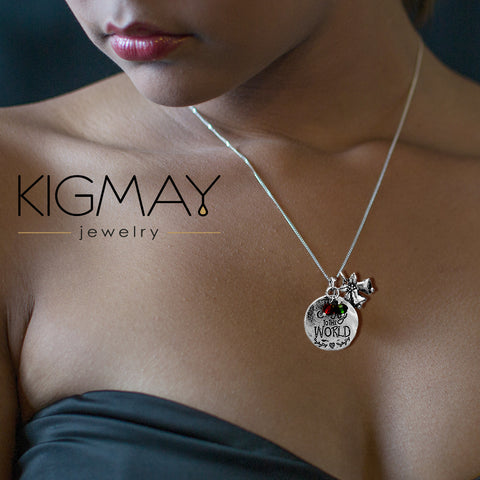 Metal Disc Pendant Jingle Bell Charm Necklace - Kigmay Jewelry - New York