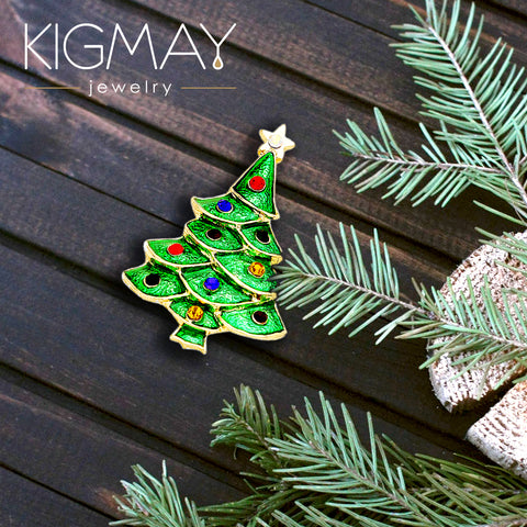 Christmas Tree Pin Brooch   Kigmay Jewelry   New York