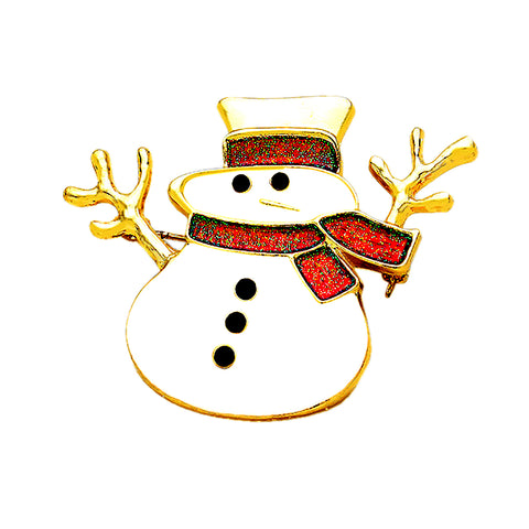 Snowman Pin Brooch - Kigmay Jewelry - New York