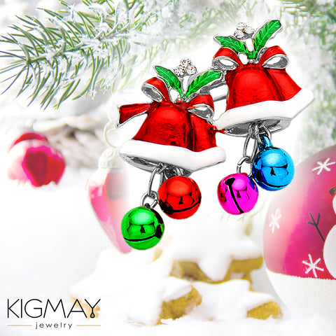 Christmas Jingle Bell Pin Brooch - Kigmay Jewelry - New York