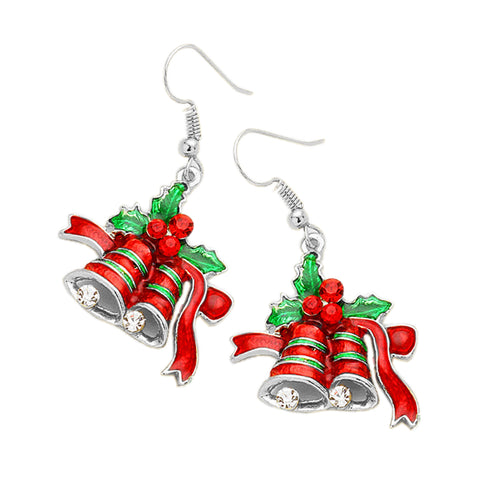 Christmas Jingle Bell Dangle Earrings - Kigmay Jewelry - New York