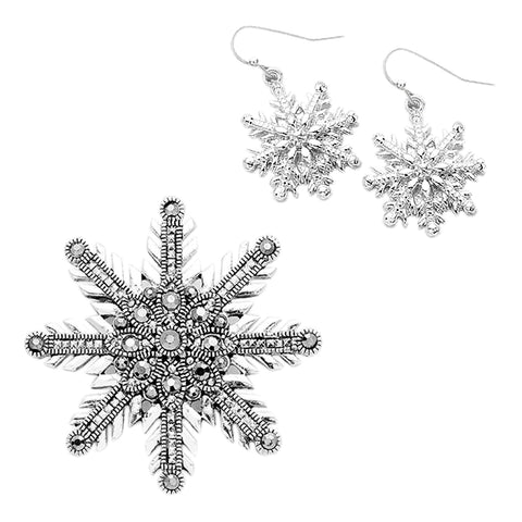 Snowflake Pendant / Brooch Set - Kigmay Jewelry - New York