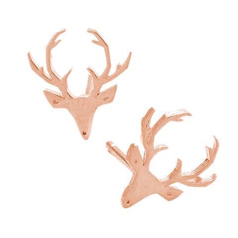 Deer Metal Stud Earrings - Kigmay Jewelry - New York