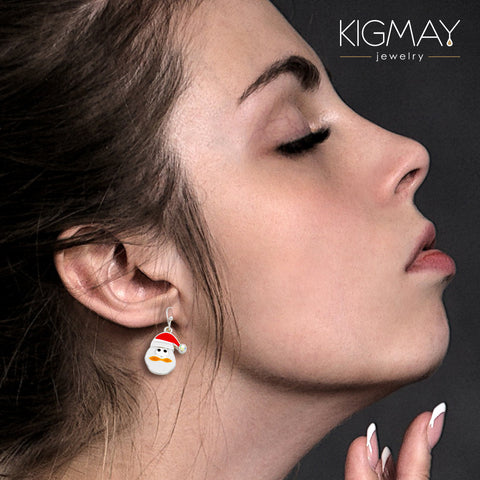 Santa Dangle Earrings - Kigmay Jewelry - New York