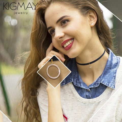 Open Circle Choker Necklace - Kigmay Jewelry - New York