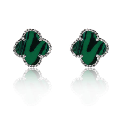 Green Irish Clover Earrings - Kigmay Jewelry - New York