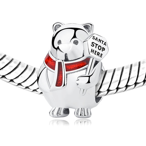 Polar Bear Christmas Charm Bead - Kigmay Jewelry - New York