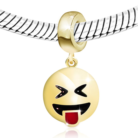 Smiley Face Dangling Charm Bead - Kigmay Jewelry - New York