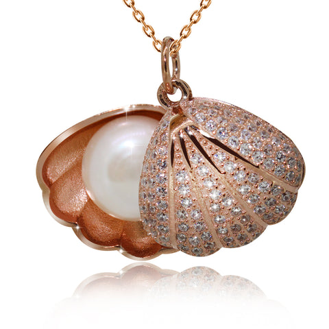 Pearl Seashell Pendant Necklace - Kigmay Jewelry - New York