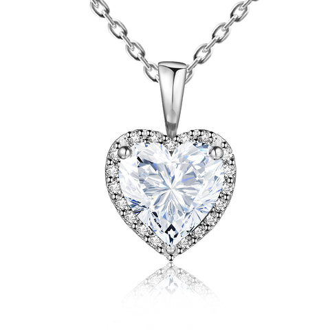 "Clear CZ F. Sinatra ""I Love You Baby"" Bridal Necklace"