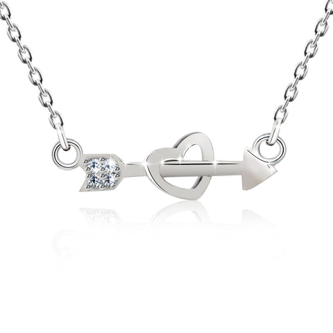 "CZ Cupid's Love ""Brave Heart"" Necklace"