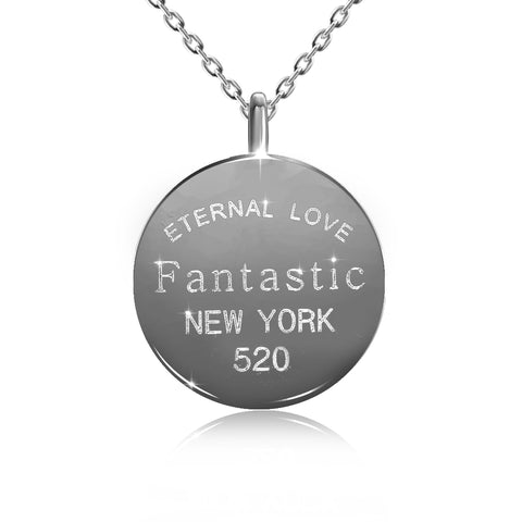 "CZ ""Fantastic New York"" Necklace"