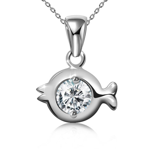 CZ Angel Pendant Necklace - Kigmay Jewelry - New York