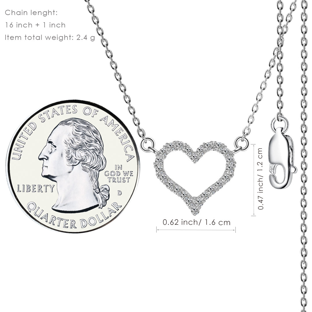 Open Heart Pendant Necklace - Kigmay Jewelry - New York