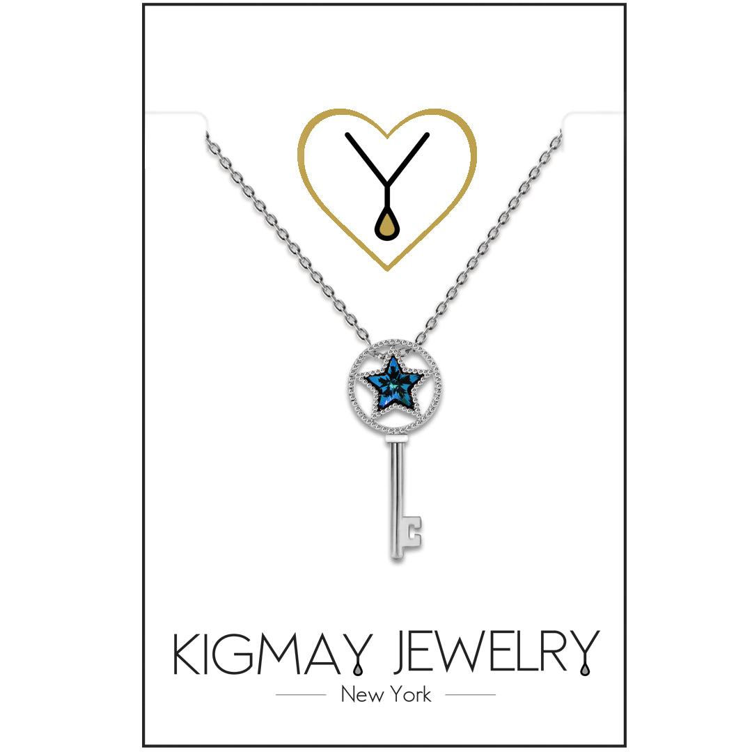 Silver Plated Patriotic Star Pendant Necklace - Kigmay Jewelry - New York
