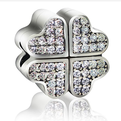 Heart Flower Charm Bead - Kigmay Jewelry - New York