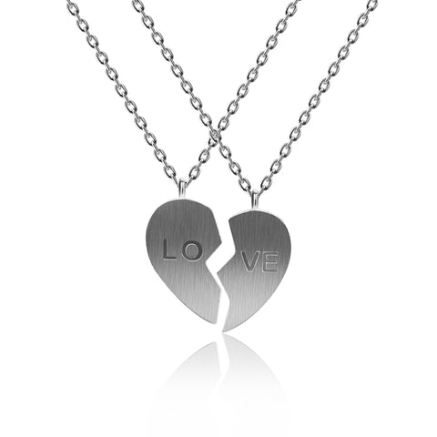 "Half Of Heart ""Love"" Necklace - Kigmay Jewelry - New York"