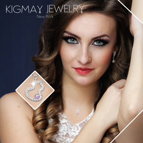 CZ Plated Christmas Tree Pendant Necklace - Kigmay Jewelry - New York