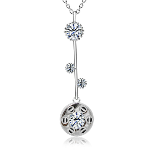 CZ Stick Round Fashion Pendant Necklace - Kigmay Jewelry - New York