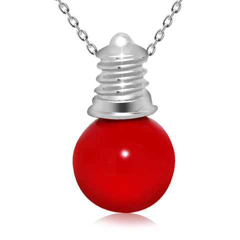 Fashion Red Bulb Pendant Necklace - Kigmay Jewelry - New York