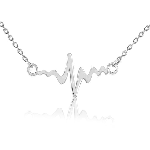 Pulse and Heart Pendant Necklace - Kigmay Jewelry - New York