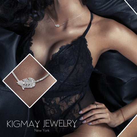 CZ Single Leaf Nature Pendant Necklace - Kigmay Jewelry - New York