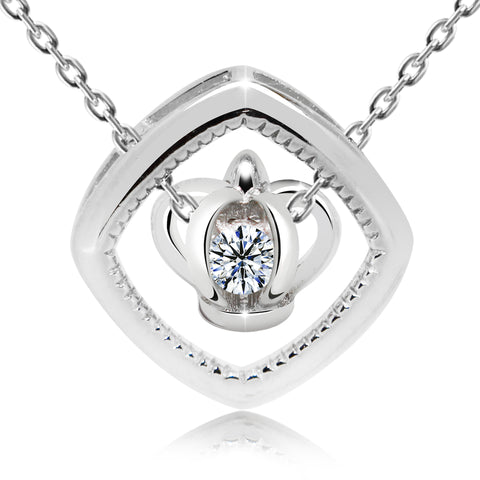 Crown in Cage Pendant Necklace - Kigmay Jewelry - New York