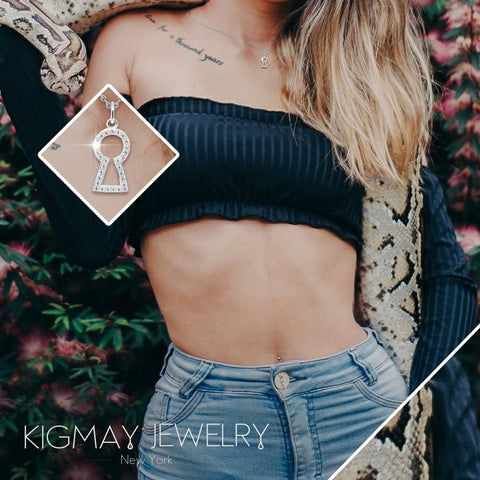 Lock Hole Pendant Necklace - Kigmay Jewelry - New York