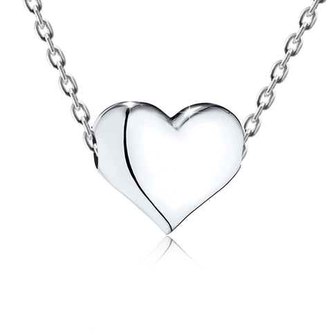 Smooth Small Heart Pendant Necklace - Kigmay Jewelry - New York