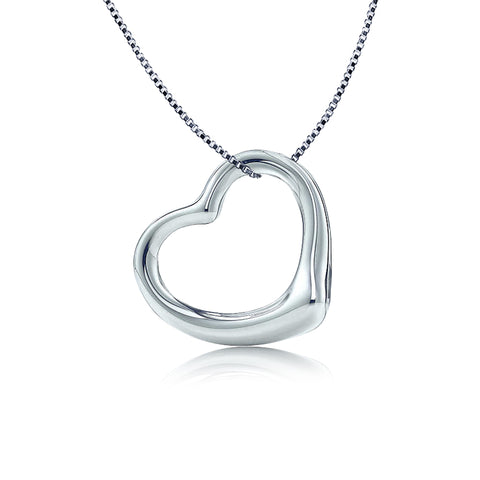 Classic Open Heart Pendant Necklace - Kigmay Jewelry - New York