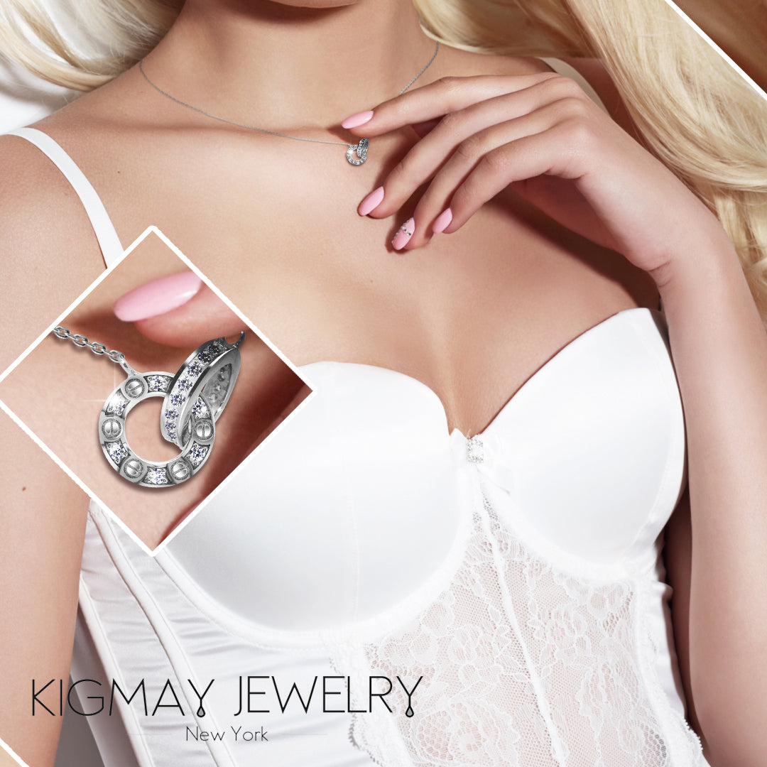 Interlocking Rings Pendant Necklace - Kigmay Jewelry - New York