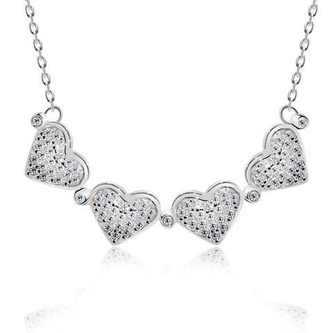 4 Leaf transforms to 4 Hearts Pendant Necklace - Kigmay Jewelry - New York