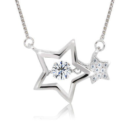 Double Dancing Star Pendant Necklace - Kigmay Jewelry - New York