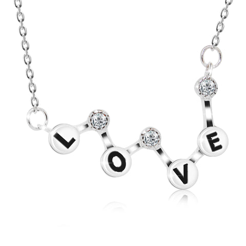 Bar Style Love Pendant Necklace - Kigmay Jewelry - New York