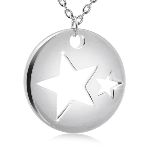 Locket with Stars Pendant Necklace - Kigmay Jewelry - New York