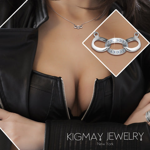 Interlocking Oval Circles Pendant Necklace - Kigmay Jewelry - New York