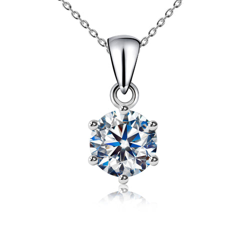 CZ Glistering Solitaire Pendant Necklace - Kigmay Jewelry - New York
