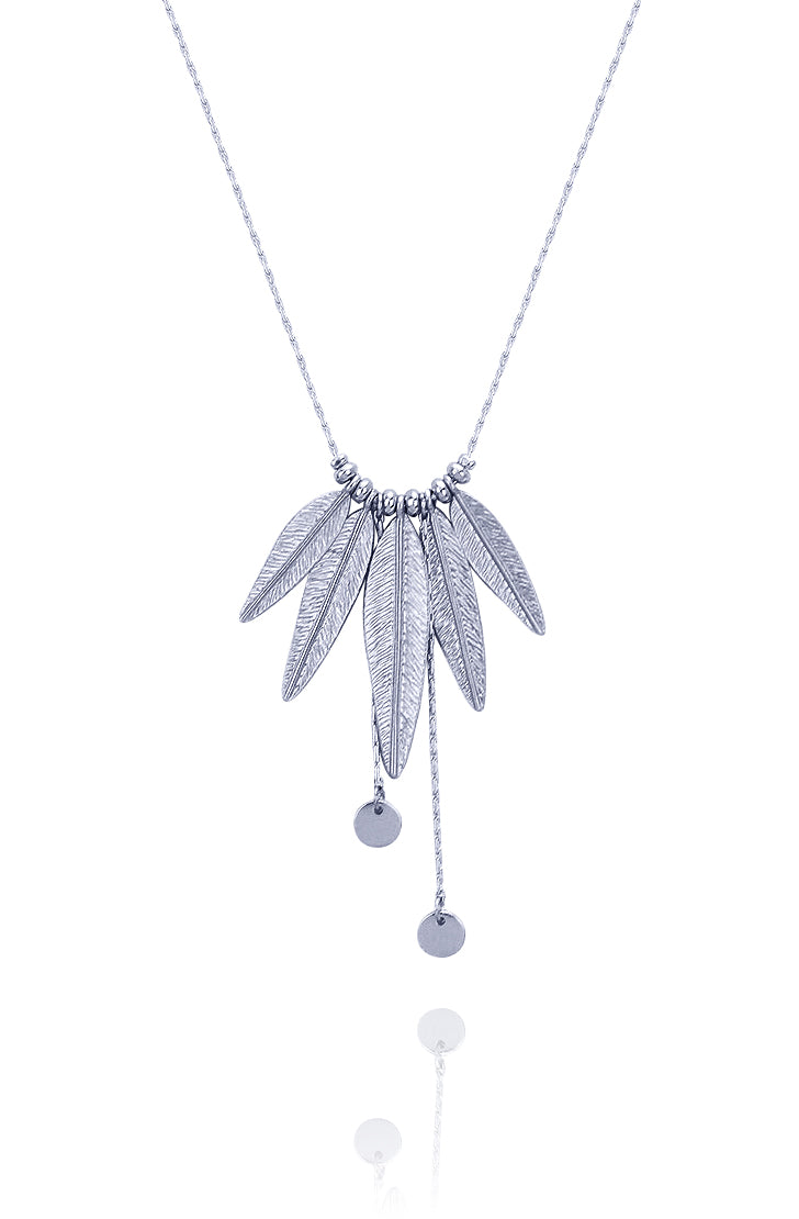 Double Layer Tribal Feather Necklace - Kigmay Jewelry - New York