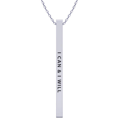 I Can Bar Necklace - Kigmay Jewelry - New York