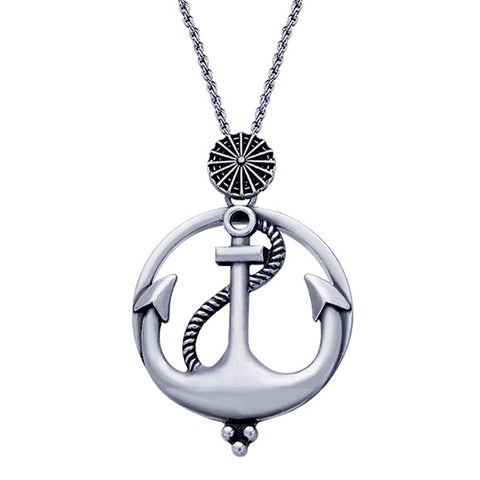 Anchor Magnifying Glass Necklace - Kigmay Jewelry - New York