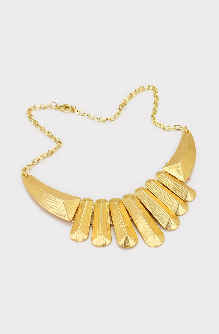 Textured Bar Statement Necklace - Kigmay Jewelry - New York