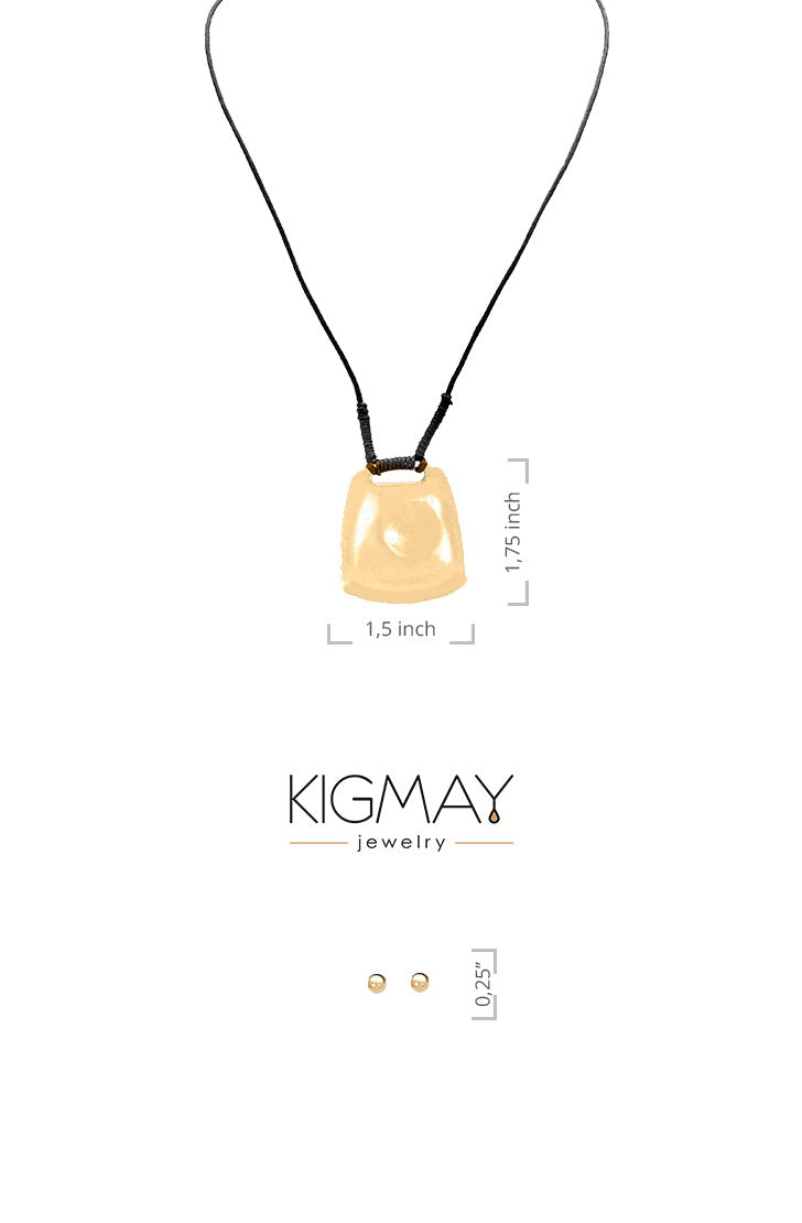 Adjustable Cord Pendant Necklace - Kigmay Jewelry - New York