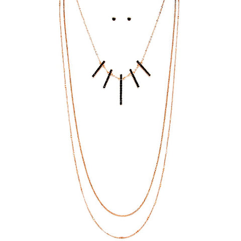 Triple Strand Long Necklace - Kigmay Jewelry - New York