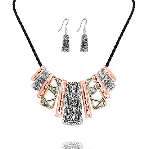 Tribal Bar Statement Necklace - Kigmay Jewelry - New York