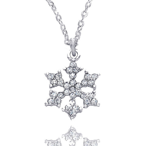 Crystal Snowflake Pendant Necklace - Kigmay Jewelry - New York