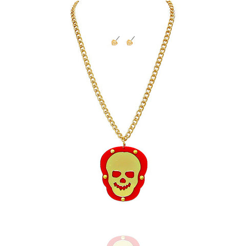 Red Skull Pendant Necklace - Kigmay Jewelry - New York