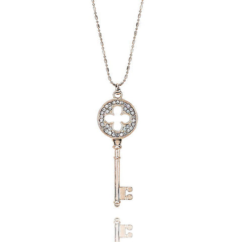 Crystal Key Pendant Necklace - Kigmay Jewelry - New York