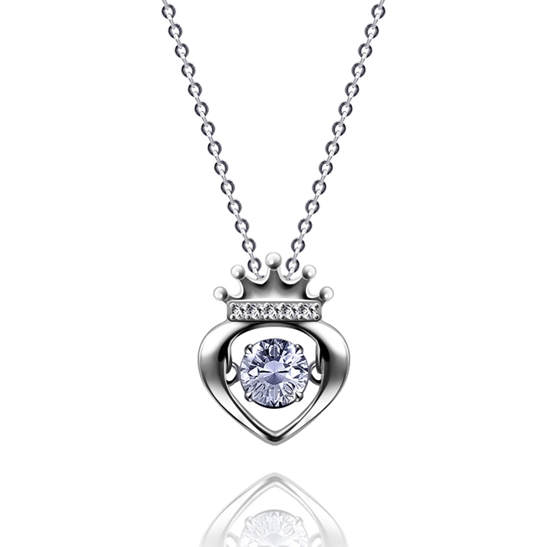 all drop crown pendants jewellery pendant sterling and cubic image zirconia chain silver necklaces