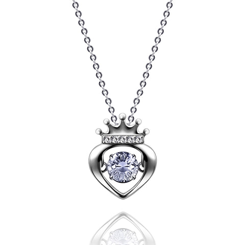Dancing Heart Buckingham Crown Pendant - Kigmay Jewelry - New York