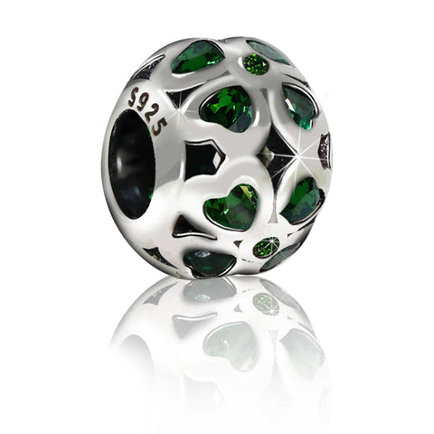 Green Heart Spacer Charm Bead - Kigmay Jewelry - New York